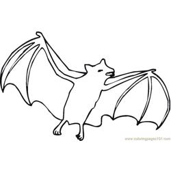 Bats Enjoy With Happy Free Coloring Page for Kids