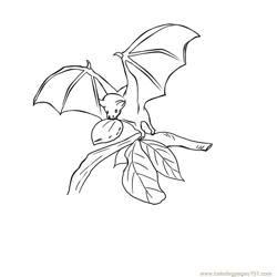 Bats on eating Free Coloring Page for Kids