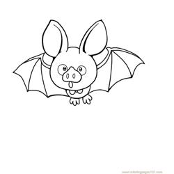 Bats Open Eyes Free Coloring Page for Kids