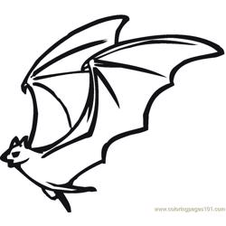 Bats Free Coloring Page for Kids
