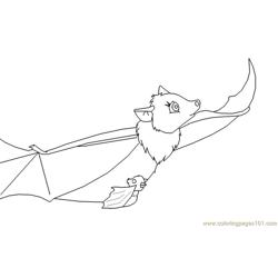 Bats With Bats Chid Enjoy Free Coloring Page for Kids