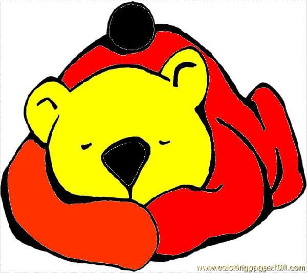 Sleepingbear Coloring Page