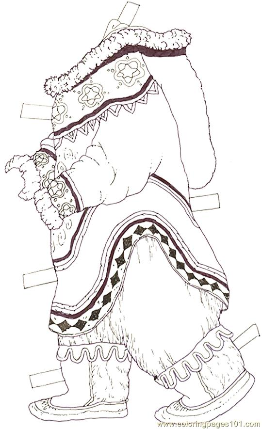 mural tsb polar mother bear clothes coloring page