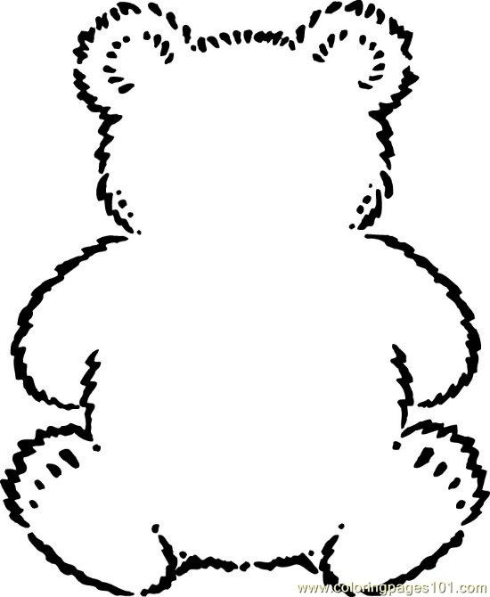 Teddybear Coloring Page - Free Bear Coloring Pages ...