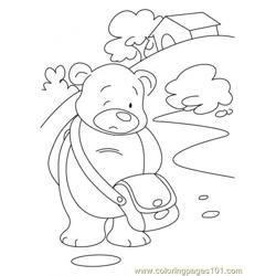 Bear Coloring Page9