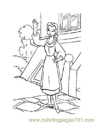 Beauty 10 Coloring Page