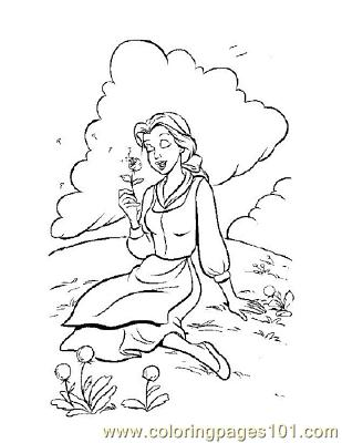 Beauty 11 Coloring Page