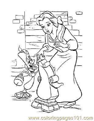 Beauty 24 Coloring Page