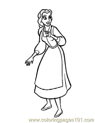 Beauty 55 Coloring Page