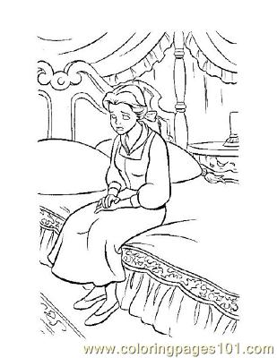 Beauty 5 Coloring Page