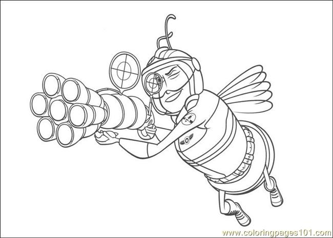 Bee Movie 10 Coloring Page