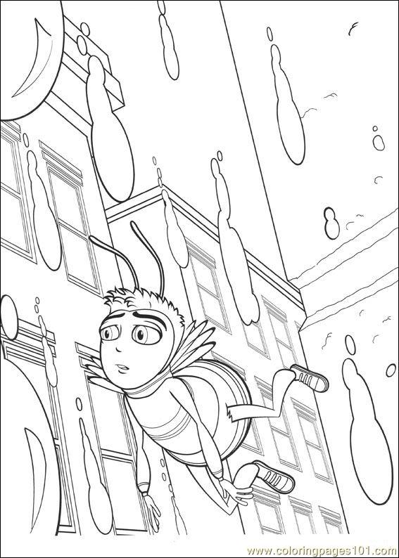 Bee Movie 16 Coloring Page