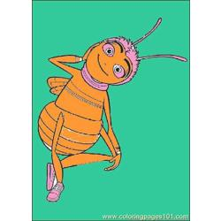 Bee Movie03 Free Coloring Page for Kids