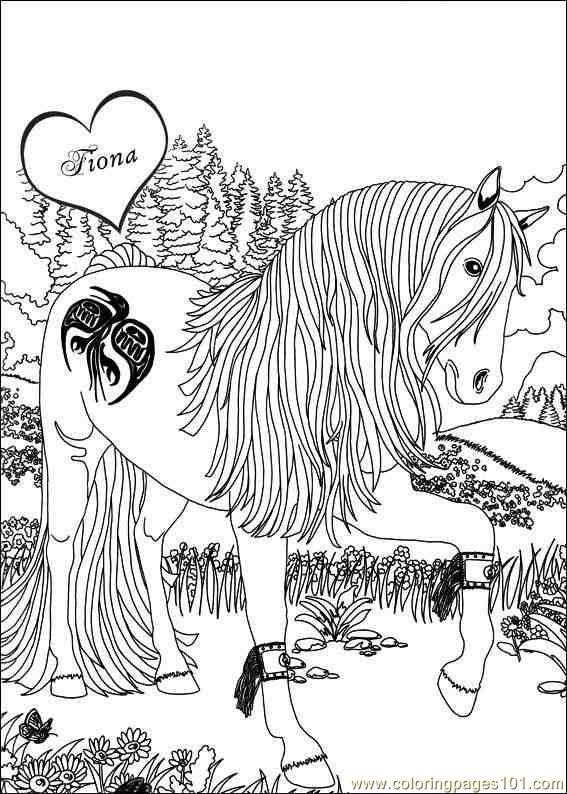 Bella Sara Coloring Pages 004 Coloring Page