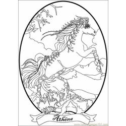 Bella Sara Coloring Pages 009