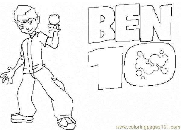 ben 10 coloring page - Ben Ten Coloring Pages