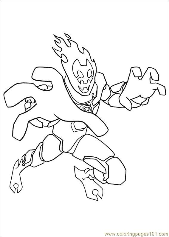 Ben 10 19 Coloring Page