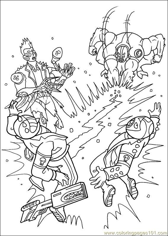 Ben10 48 Coloring Page