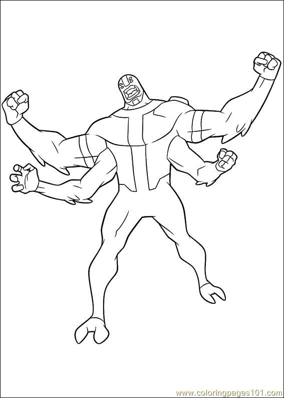 Ben10 57 Coloring Page