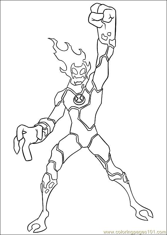 Ben10 67 Coloring Page