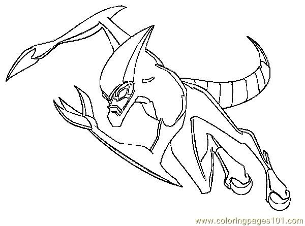 Ben10 G 6 Coloring Page  Free Ben 10 Coloring Pages