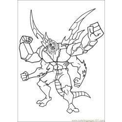 Ben10 44 Free Coloring Page for Kids