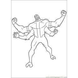 Ben10 57 Free Coloring Page for Kids