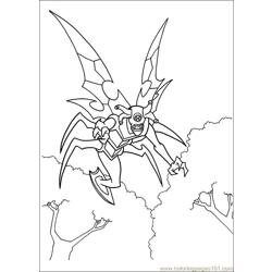 Ben10 58 Free Coloring Page for Kids