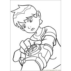 Ben10 59 Free Coloring Page for Kids