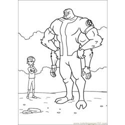 Ben10 65 Free Coloring Page for Kids