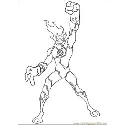 Ben10 67 Free Coloring Page for Kids