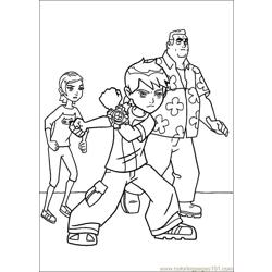 Ben10 71 Free Coloring Page for Kids