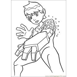 Ben10 75 Free Coloring Page for Kids