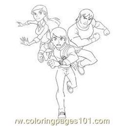 Ben Tennyson Gwen Tennysom Kevin Levin coloring page