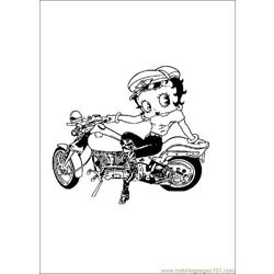 Bettyboop02 Free Coloring Page for Kids