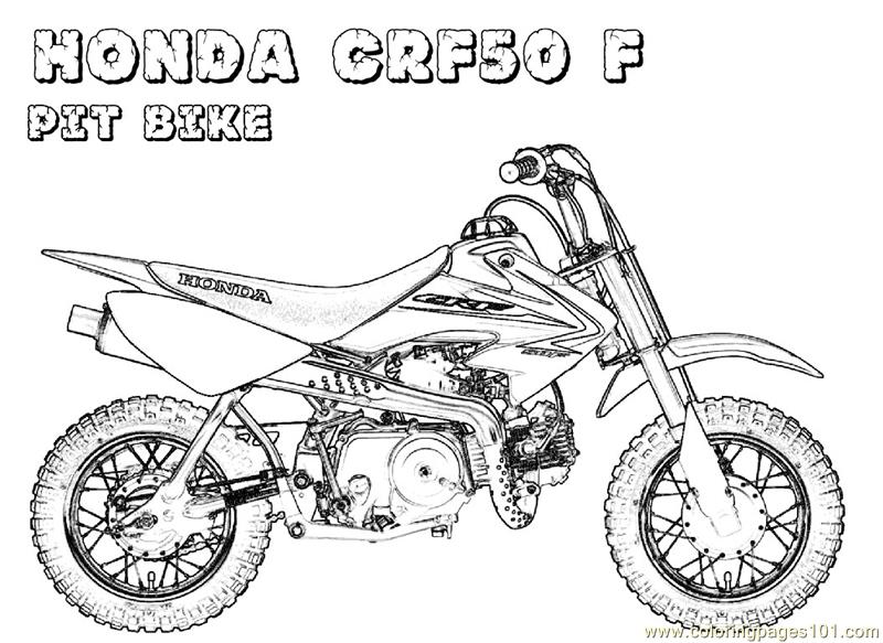 honda bike coloring page free bikes coloring pages With honda 500 dirt bike