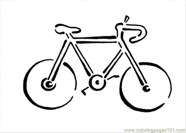 Bicycle Coloring Page