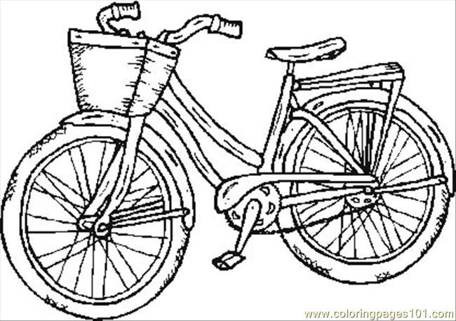 Old Bike Coloring Page Free Bikes Coloring Pages
