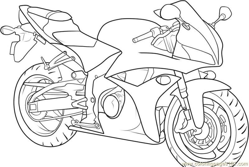 - Motorbike Coloring Page - Free Bikes Coloring Pages : ColoringPages101.com