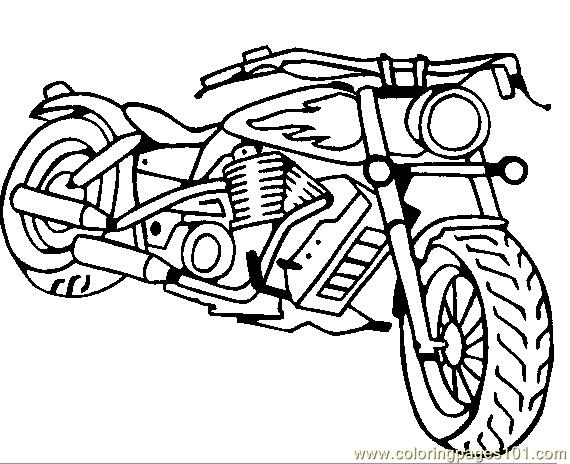Bikes Coloring Pages