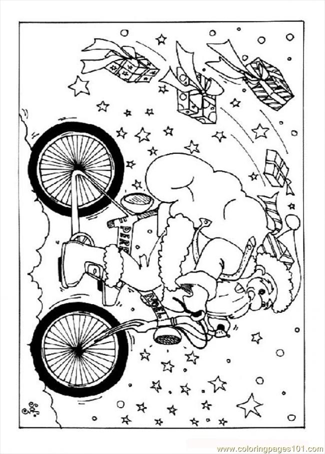 Nta On The Bicycle Source Oyo Coloring Page
