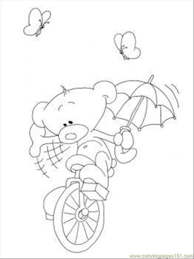 Oli On The Bike Coloring Page Coloring Page
