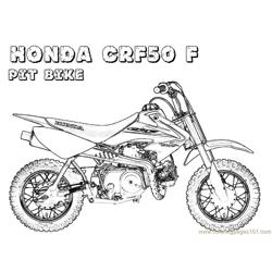 Honda Bike Free Coloring Page for Kids
