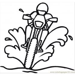 Racing On The Dirty Road Free Coloring Page for Kids