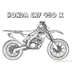 Honda CRF Free Coloring Page for Kids