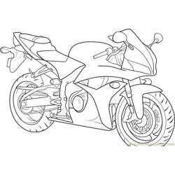 Motorbike Free Coloring Page for Kids