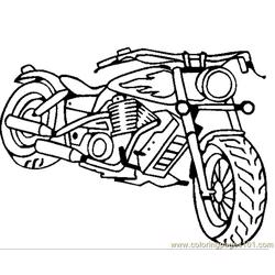 Motorcycle Free Coloring Page for Kids