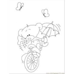 Oli On The Bike Coloring Page