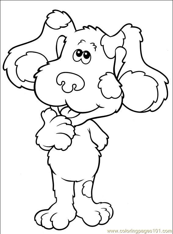 blues clues 001 13 coloring page - Blues Clues Coloring Pages