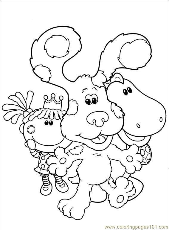 Nick Jr Coloring Pages Pdf : Blues clues coloring page free blue s